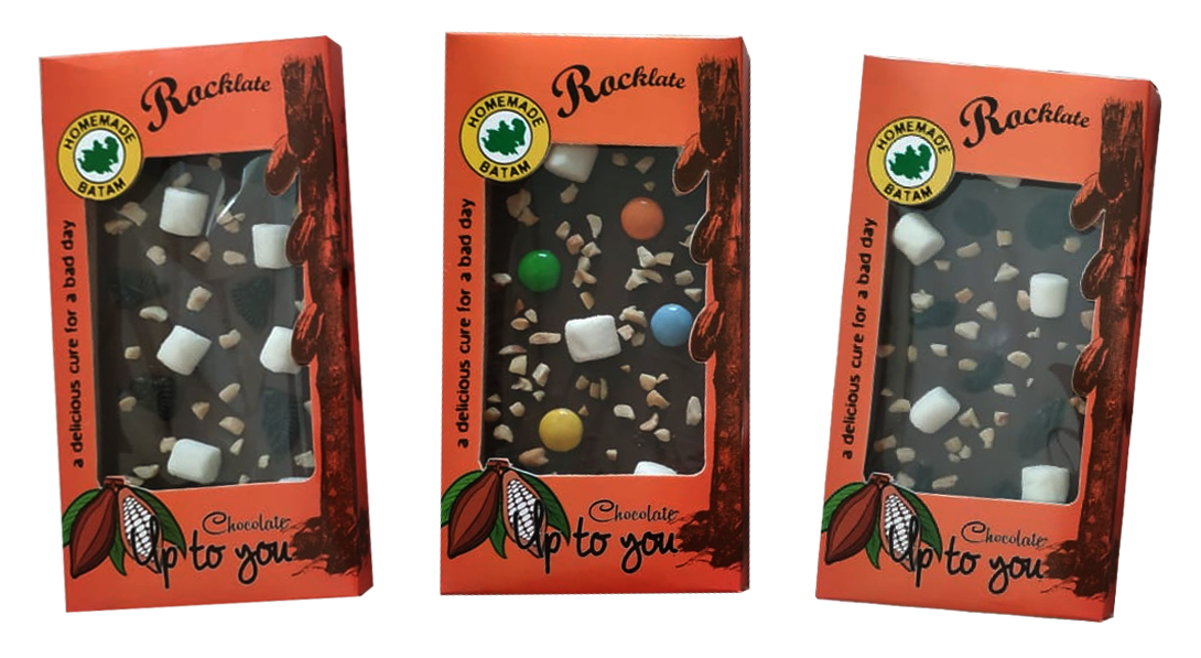 Coklat Rocklate Oleh-Oleh Batam Up To You