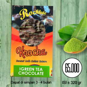 Coklat Rocklate Oleh-Oleh Batam Krocka Crunchy Grenn Tea Chocolate