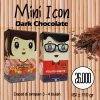 Coklat Rocklate (Oleh-Oleh Batam) - Mini Icon Crunchy Dark Chcoalate